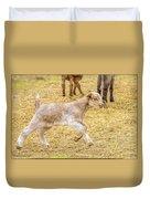 Baby Goat On The Run Duvet Cover