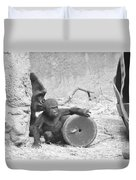 Baby Gorilla And Mom Duvet Cover