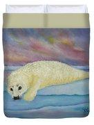 Baby Harp Seal Duvet Cover