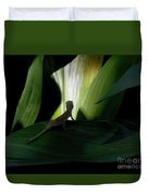 Baby Lizard Paths Lit And Dark Duvet Cover