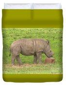Baby Rhino Chilling Duvet Cover