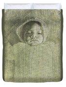 Baby Self Portrait Duvet Cover
