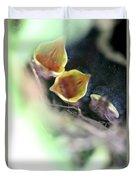 Baby Wrens In The Flowers 338 Duvet Cover