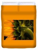 Back Angle Of Sunflower Duvet Cover