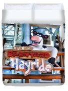 Back At The Barnyard Hayride Duvet Cover