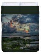 Back Bay Sunrise Duvet Cover
