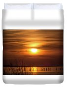 Back Bay Sunset Duvet Cover