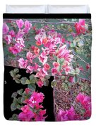 Back Door Bougainvillea Duvet Cover by Eikoni Images