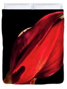 Back Lit Black Calla Lily Duvet Cover