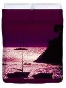 Back Lit Boats 2 Duvet Cover