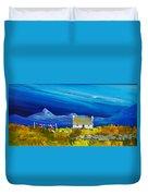 Back  Of Keppoch Cottage, Arisaig Duvet Cover