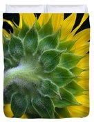Back Of Sunflower Duvet Cover
