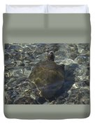 Back Of Turtle Duvet Cover