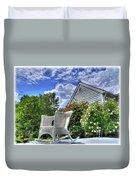 Back Porch In Summer Duvet Cover