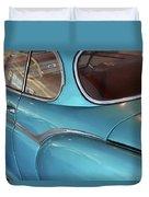Back Side Of A Blue Vintage Car  Duvet Cover