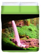 Back Side Of Silver Falls Duvet Cover