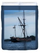 Back Side Pirates Duvet Cover
