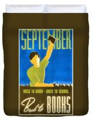 Back To Books Duvet Cover