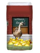 Back To School Little Duckies Duvet Cover