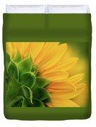 Back View Of Sunflower Duvet Cover