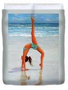 Backflip At The Beach Duvet Cover