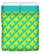Background Choice Daffodils Duvet Cover