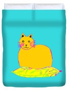 Background Colour Choice Saffron Cat Duvet Cover