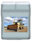 Backhoe Tractor Construction Duvet Cover