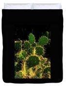 Backlit Cacti Duvet Cover