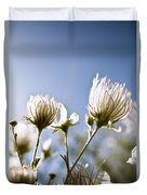 Backlit Fuzzy Flower Duvet Cover by Ray Laskowitz - Printscapes
