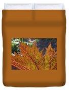 Backlit Leaf 2 Duvet Cover