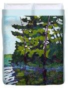 Backlit Pines Duvet Cover