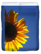 Backlit Sunflower Duvet Cover