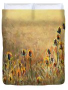 Backlit Thistle Duvet Cover