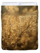 Backlit Wildflower Seeds In Autumn Duvet Cover