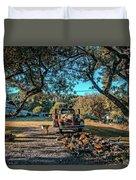 Backyard Duvet Cover