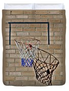 Backyard Basketball Duvet Cover