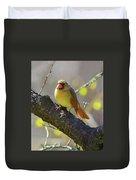 Backyard Bird Female Northern Cardinal Duvet Cover