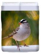 Backyard Bird - White-crowned Sparrow Duvet Cover