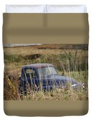 Backyard Blues Duvet Cover
