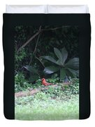Backyard Friend Duvet Cover