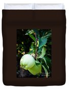 Backyard Garden Series - 2 Apples Duvet Cover