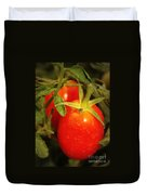 Backyard Garden Series - Roma Tomatoes Duvet Cover