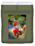 Backyard Garden Series - The Freshest Raspberries Duvet Cover