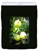 Backyard Garden Series- Golden Delicious Apples Duvet Cover