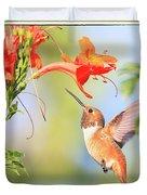 Backyard Hummingbird Series # 54 Duvet Cover