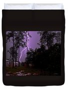 Backyard Lightning Duvet Cover