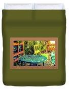 Backyard Summer Duvet Cover