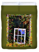 Backyard Window Duvet Cover