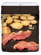 Bacon And Potatoes On A Griddle Duvet Cover
